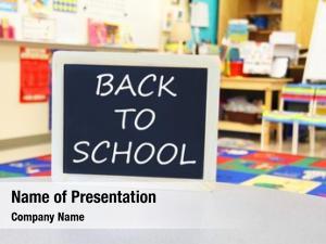 Sign back school classroom