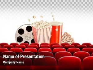 Reel, cinema film popcorn, drink