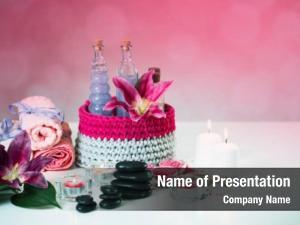 Aromatherapy cosmetics bottles candles