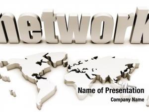 World global network map
