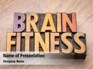 Word brain fitness abstract vintage