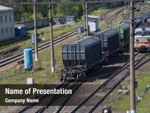 Cars rail freight railway station