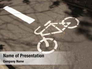 Symbol bike path, bicycle path