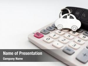 Calculator car key concept calculating