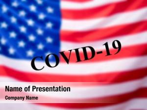 Covid 19 flag usa text