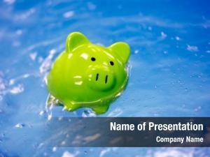 Drowning piggy bank debt sinking