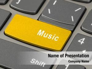 Keyboard computer notebook music key