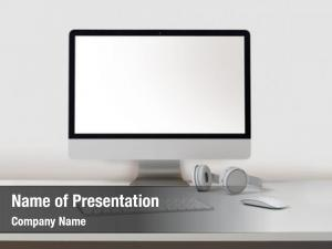 White desktop computer