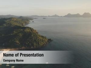 Tropic paradise resort island aerial