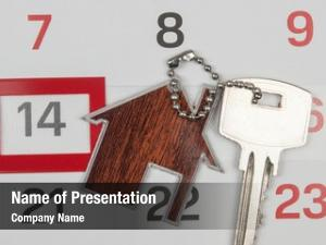 Calendar house key paying your