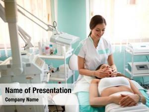 Spa face massage in spa salon, facial beauty treatment