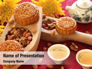 Chinese famous food--Mooncakes,which are Chinese pastries traditionally eaten during the Mid-Autumn Festival / Zhongqiu Festival(the third major festival of the Chinese calendar)