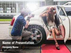Female celebrity powerpoint template