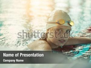 Ethnicity child portrait swimming