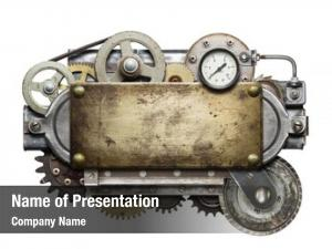 Stylized metal collage of mechanical device