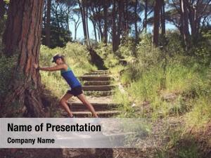 Streching woman fitness marathon runner