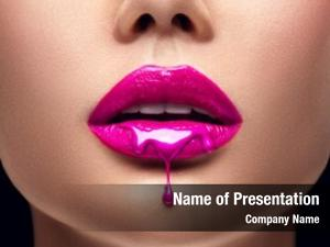 Pink Lipstick dripping