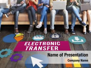 Electronic transfer powerpoint template