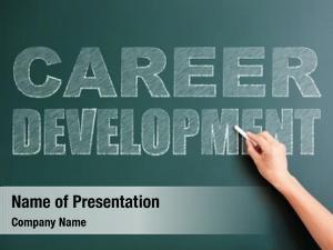 Career development written on blackboard