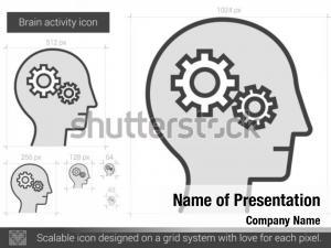 Brain activity powerpoint background