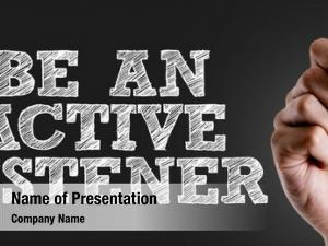Hand writing the text: Be An Active Listener