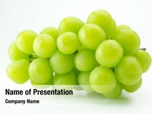 Plump green grape or muscat grape,  on natural white