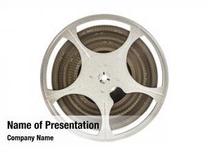Vintage 8 mm movie film reel  on white