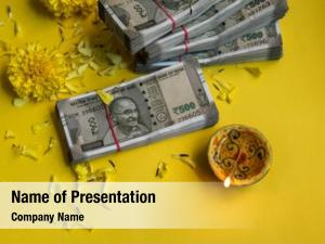 Hard currency is worshiped as Laxmi - a goddess of wealth