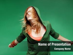 Teenage girl dancing studio series