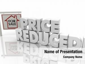 Price Reduced Now Lower Listing Home House Sale Sign 3d
