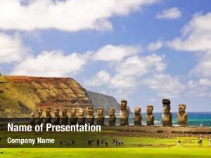 CHILE - FEBRUARY 6: Moais of Ahu Tongariki on Easter Island, Chile