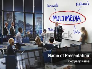Businesswomen multimedia cyberspace network