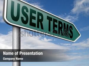 Terms of use or user