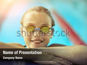 Freestyle child portrait swimming
