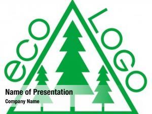 Green logo on an environmental theme