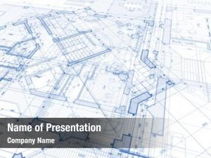 Architecture design: blue plan -  of a plan modern residential building / technology, industry, business concept : real estate, building, construction, architecture