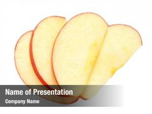 Sliced apple  on white