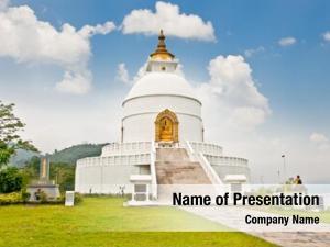 World peace pagoda in Pokhara Nepal
