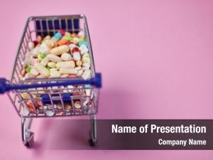 Order drugs online in shopping cart as medicine concept