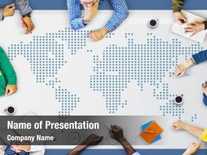 World Global Business Cartography Communication Concept