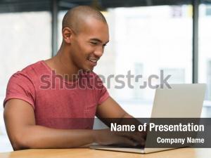 Studying smiling guy