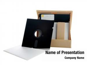 25 inch Floppy Disc and case  on white with room for your text or s
