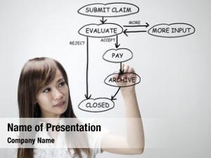 Insurance agent explaining insurance claim diagram