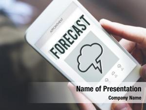 Weather forecast overcast report concept