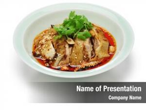 Mouthwatering saliva chicken, chicken, poached