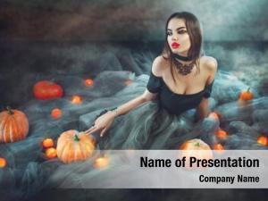 Pumpkins halloween witch magic lights