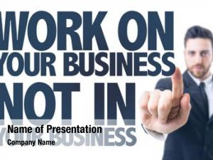 Pointing business man text: work
