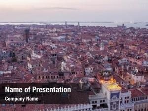 Venice aerial view city, italy