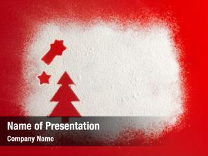 Flour christmas tree