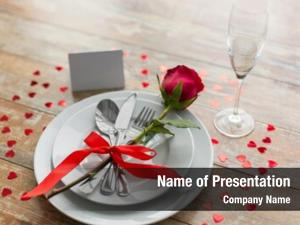 Table valentines day, setting romantic